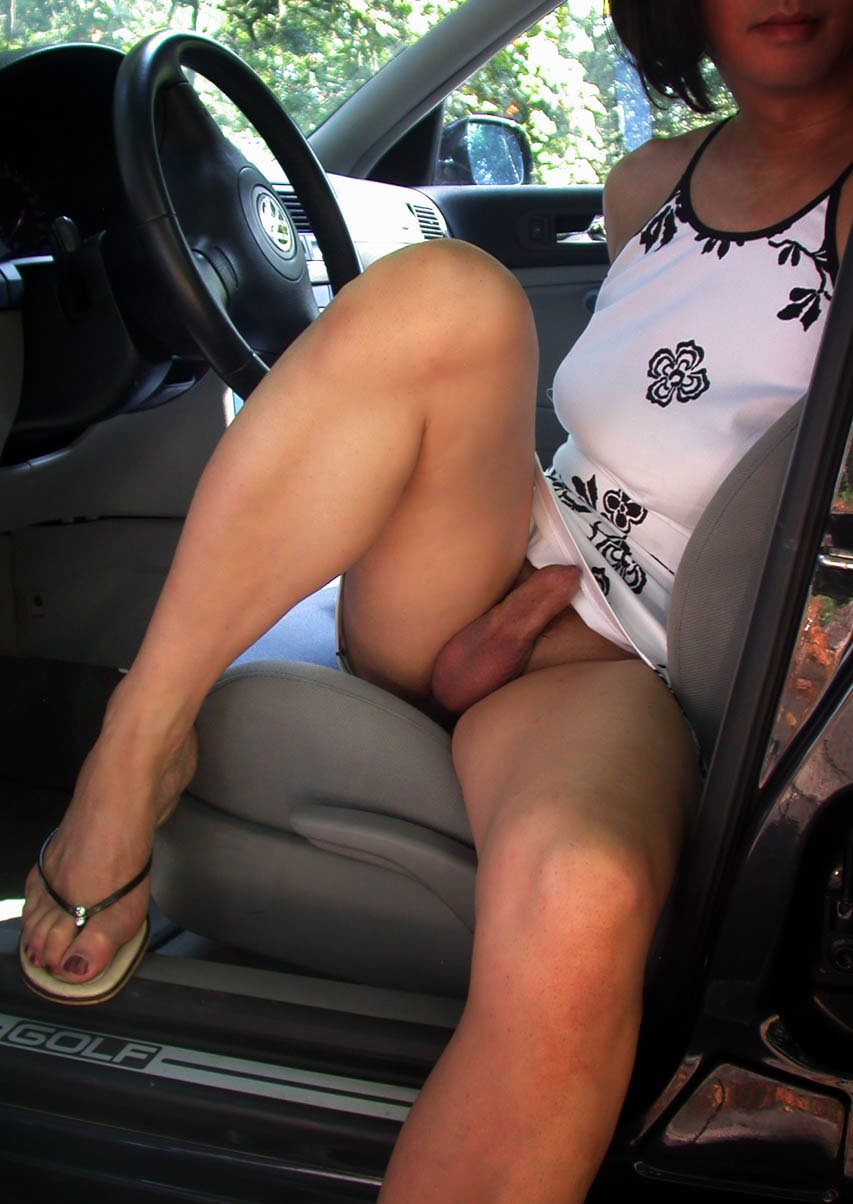 Naked trap in the car
