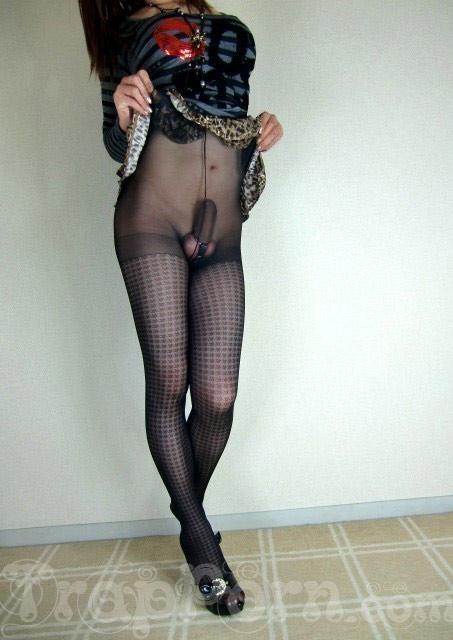 Sexy crossdresser in bodystocking